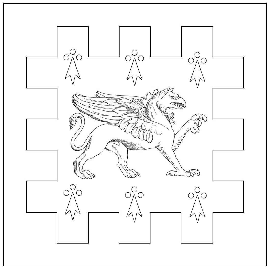BFS Award Silver Griffin line drawing
