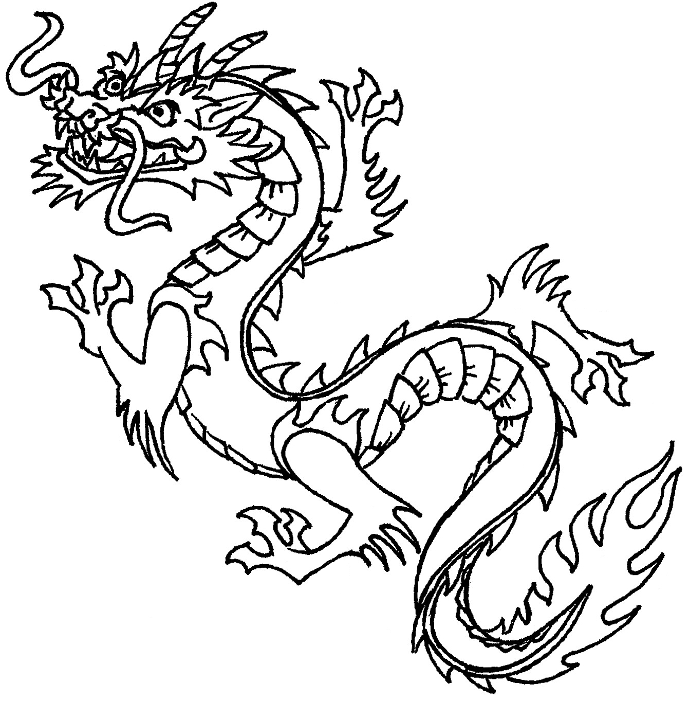 Heraldry Dragon Colouring Pages